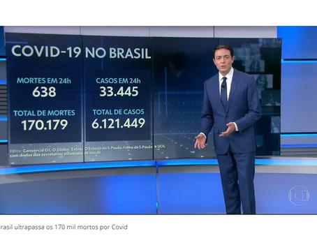 Brasil passa marca de 170 mil mortos por Covid