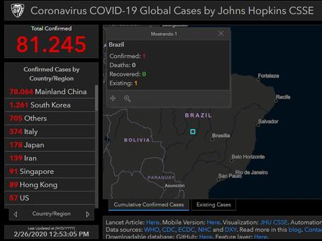 O coronavírus ,nos últimos sete dias, 20 países confirmaram os primeiros casos da doença.