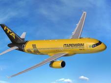 A primeira aeronave da Itapemirim Transportes Aéreos chegou hoje em Natal (RN).