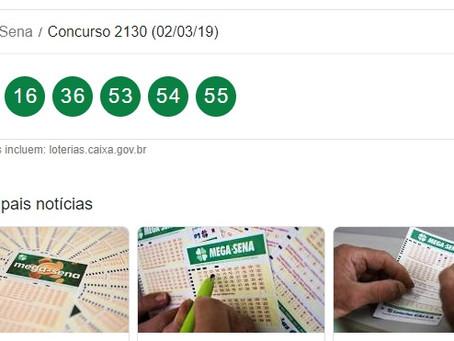 """""""Mega Sena"""" .Ninguém acerta as seis dezenas e prêmio vai a R$ 80 milhões ."""