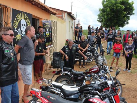 """Inaugurada unidade Grupo de motociclistas 'Galera da Kazinha', na localidade de Candeias em """"Ce"""