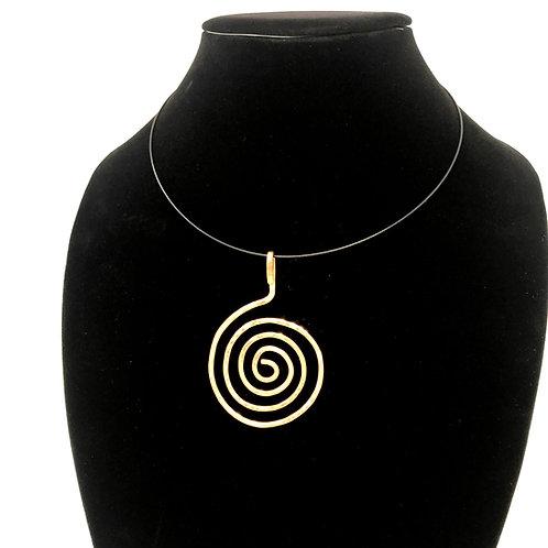 Large Bronze Spiral Pendant