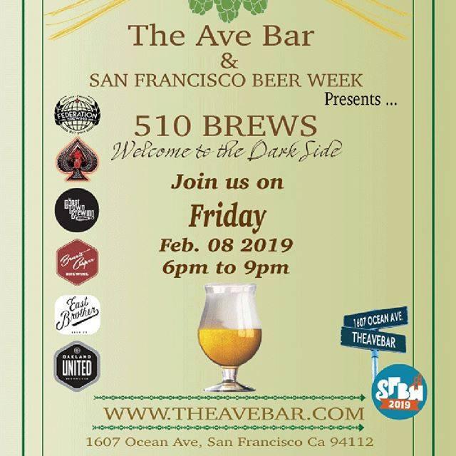 S. F. Beer Week 510 Brews at The Ave Bar