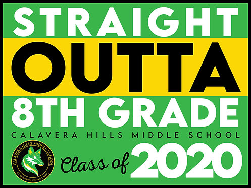 CHMS CLASS OF 2020 YARD SIGN