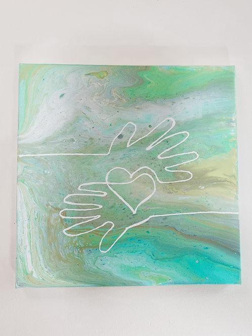 """12"""" x 12"""" Original Painting: Unity Consciousness"""