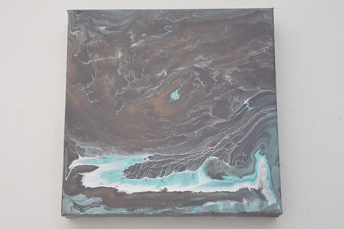 "10"" x 10"" Original Painting: Waves"