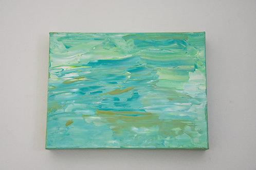 "9"" x 12"" Original Painting: Aqua Layers"