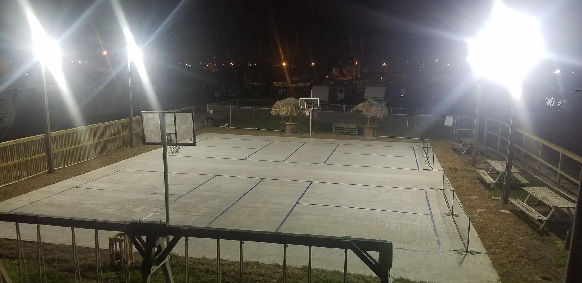 Basketball Court at Night