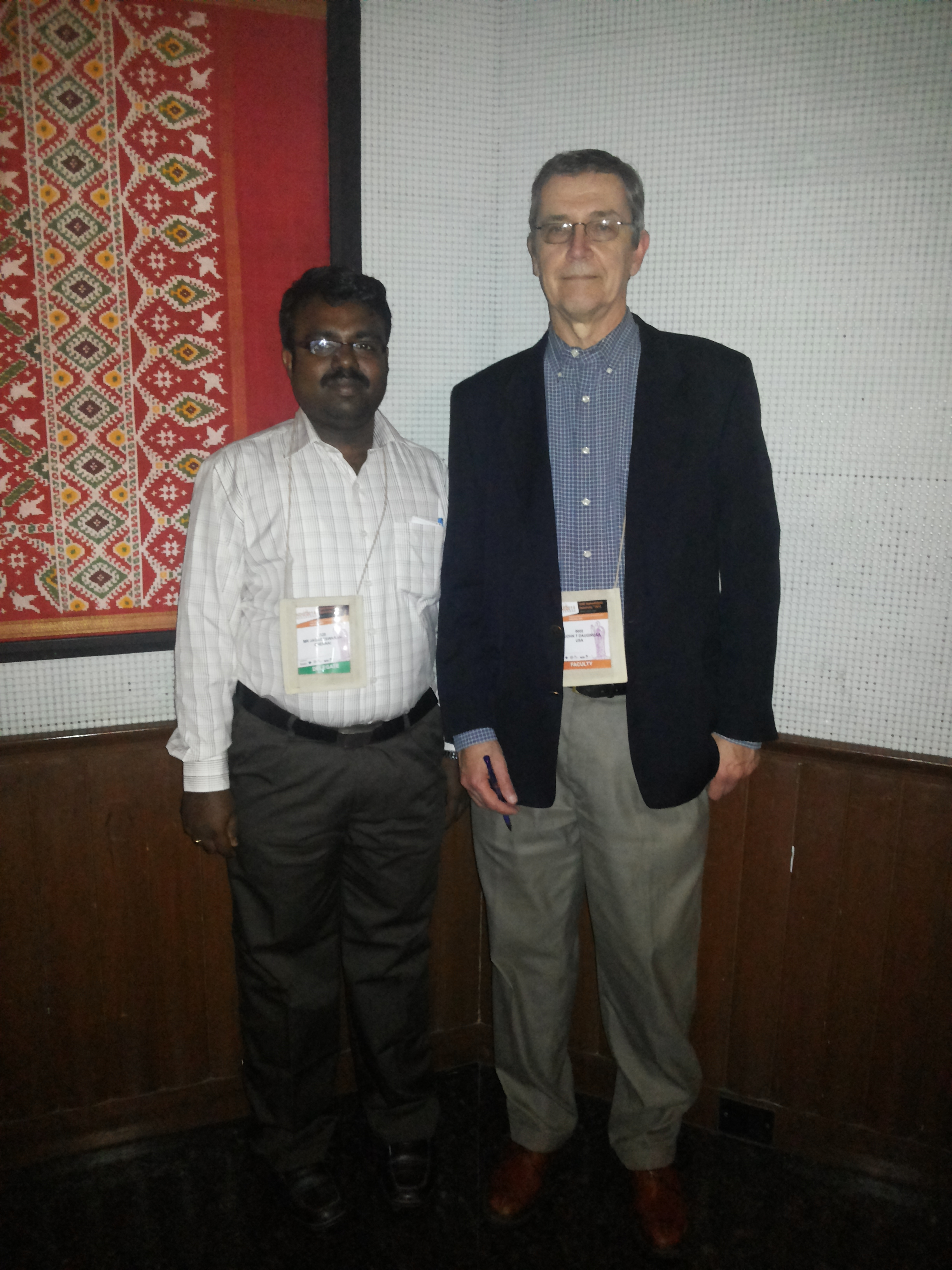 Photo taken with Prof Dr John T Daugirdas, Author of famous Handbook of Dialysis