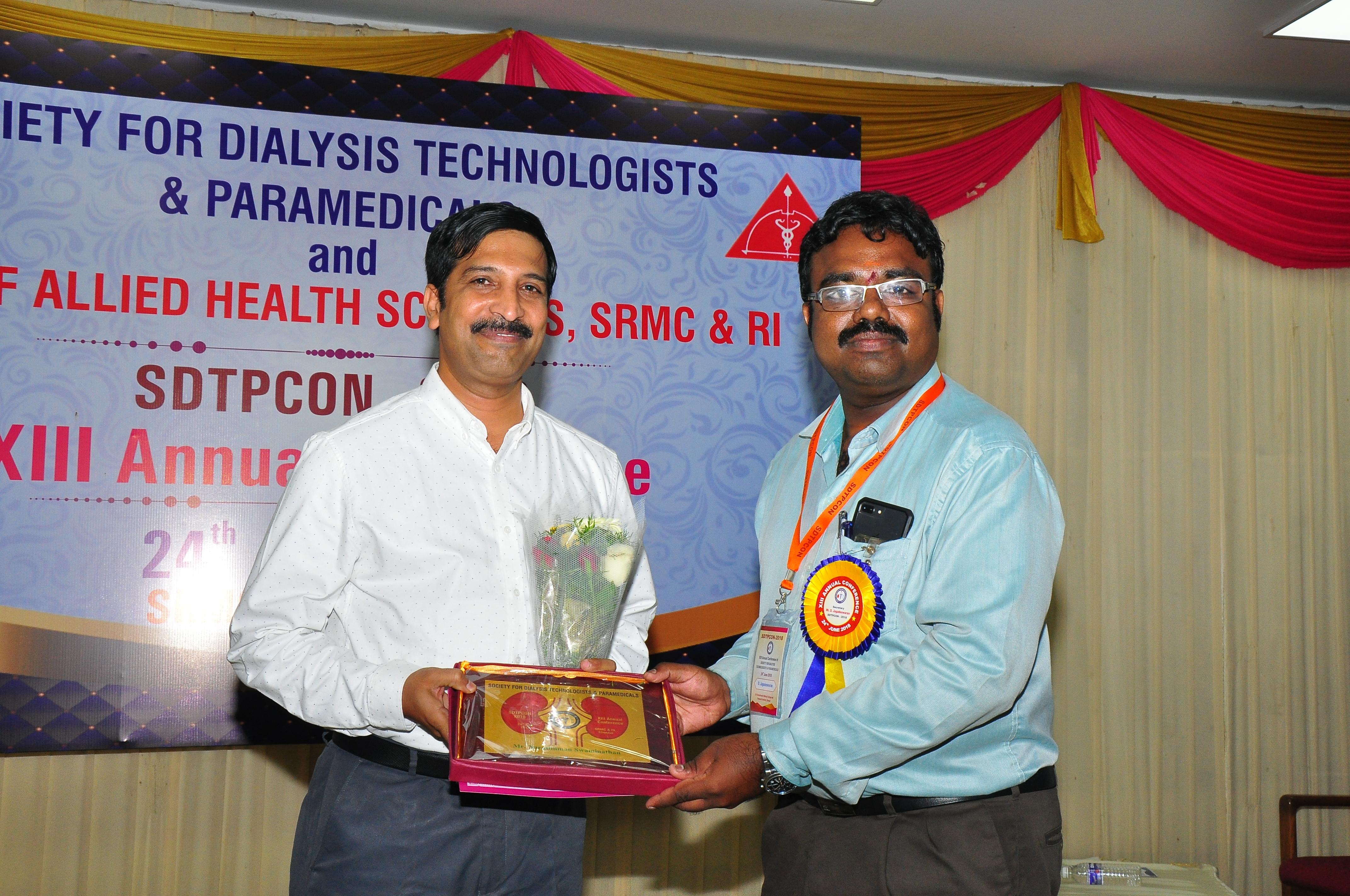 Felicitating Prof. Narasimman