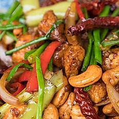 CASHEW NUTS IN GARLIC CHICKEN SAUCE