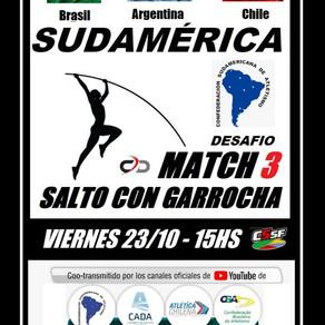 Este Viernes se realizará el Match 3 de Salto con Garrocha Femenino