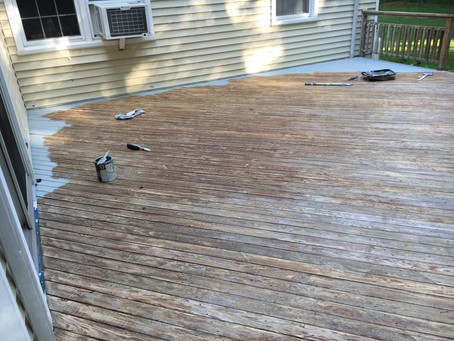Deck - Before and After