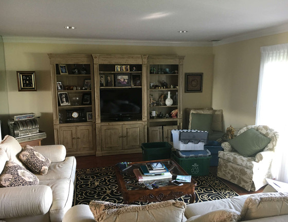 Entertainment Center - Before and After
