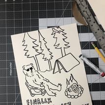 Custom line doodle