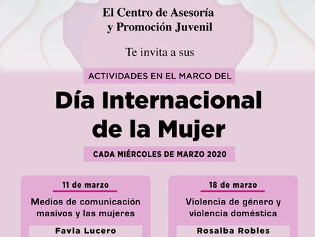 Todo el mes, actividades por el Día Internacional de la Mujer