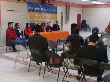 Buscan generar plan educativo para jóvenes fuera de la escuela