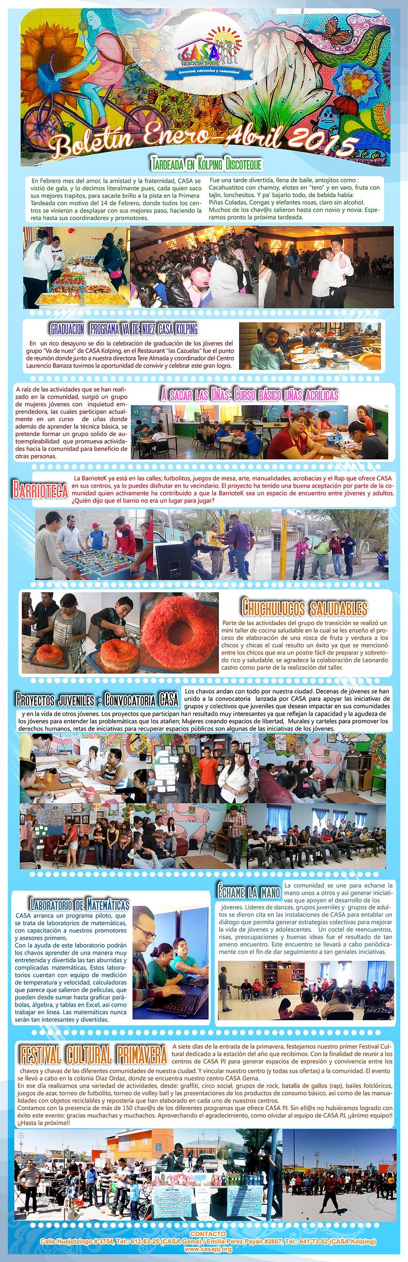 Boletin Informativo Enero Abril 2015