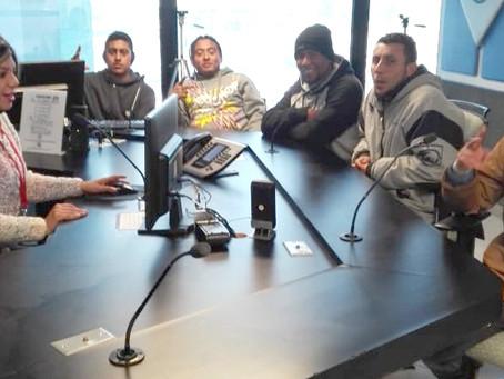 Jóvenes CASA en la radio