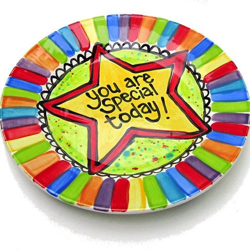 "Family pride CUSTOM rainbow 10"" plate"