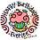 Thumbnail: Party swirls handmade birthday plate personalized