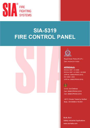 SIA-5319 Control Panel
