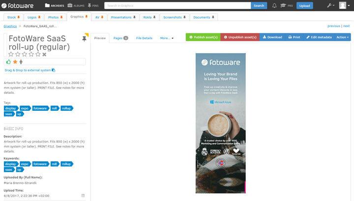 Materiais de marketing anteriores no FotoWare