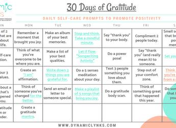 30 Days of Gratitude: 2020 Edition