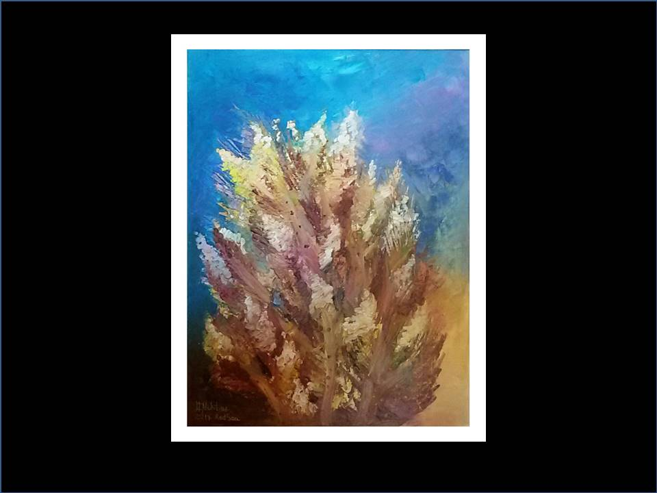"Underwater Painting ""Bonfire"",2017"