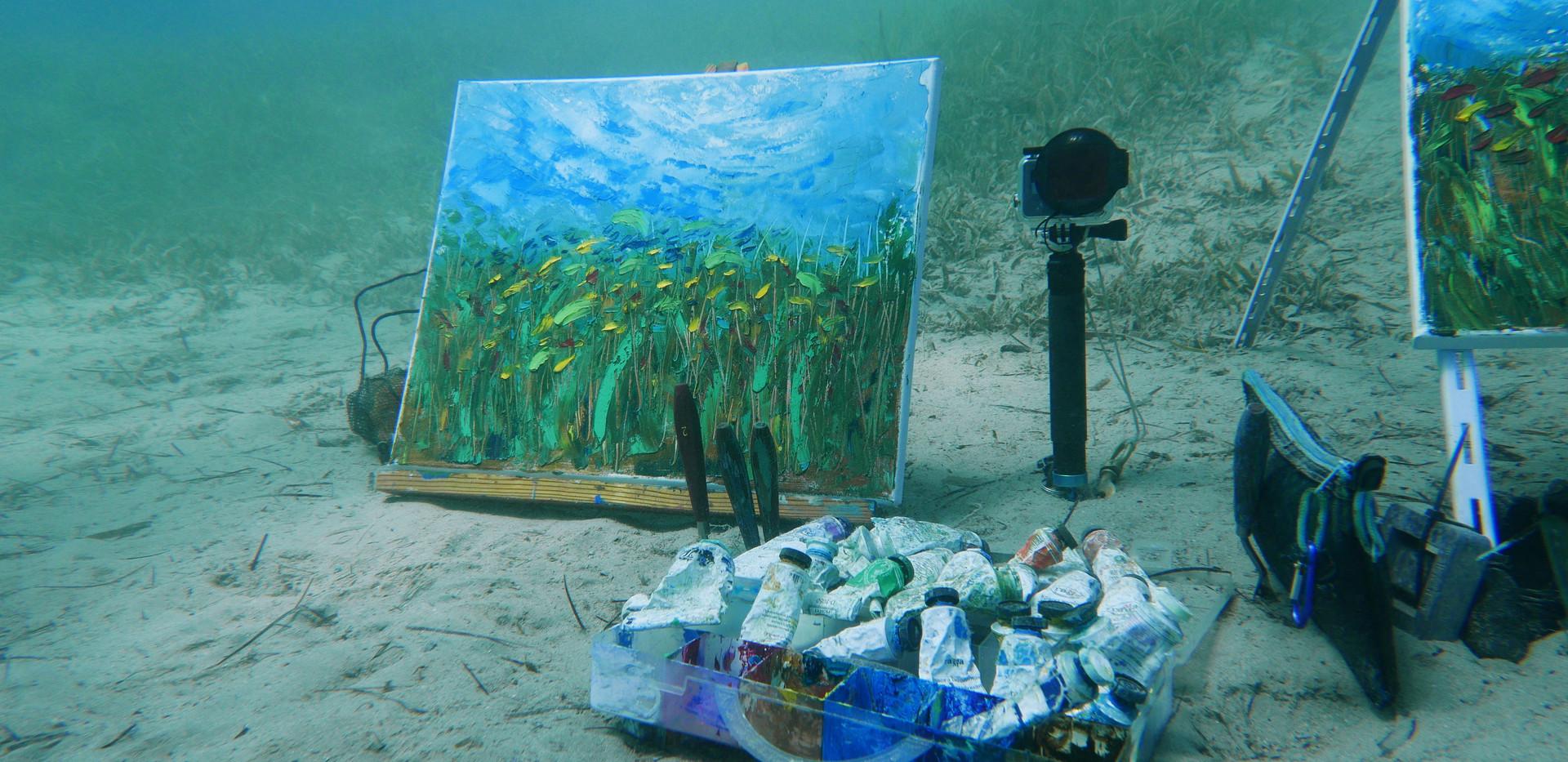 Underwater painting school by Olga Nikitina