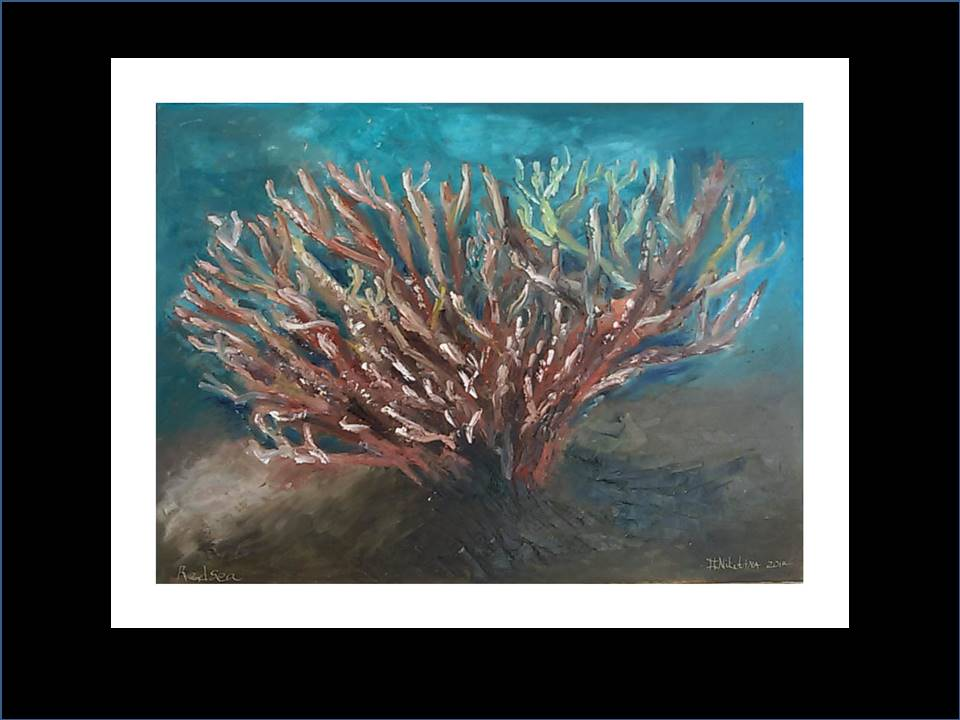 "Underwater Painting ""Hard coral""2017"