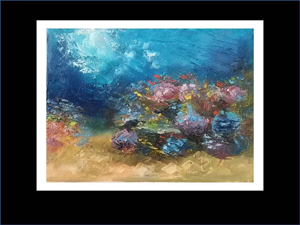 "Underwater Painting ""Reef"",2018"