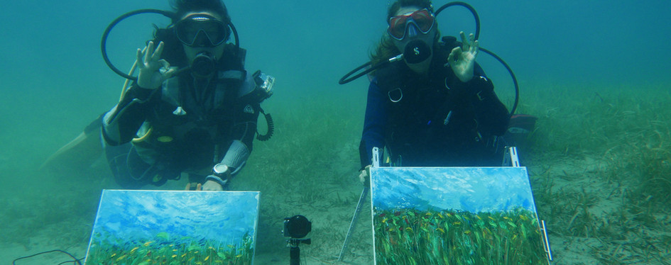 Underwater painting session finished after 78 minutes.