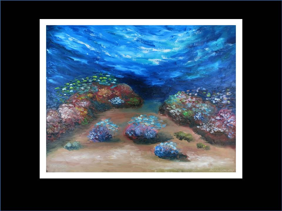 "Underwater Painting ""Coral Reef""2017"