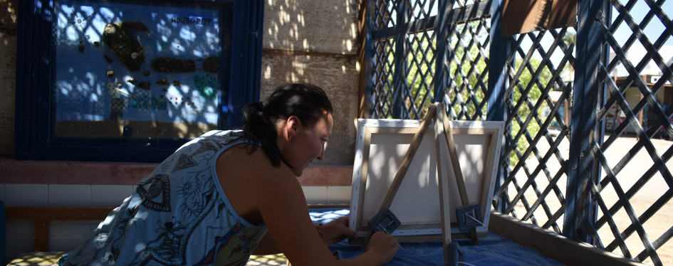 How I prepare canvas.