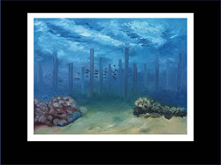 "Underwater Painting ""Skyscrapers"""