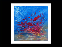 "Underwater painting ""Red boom"""