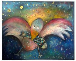 Pták s rybou
