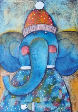 Slon v kulichu