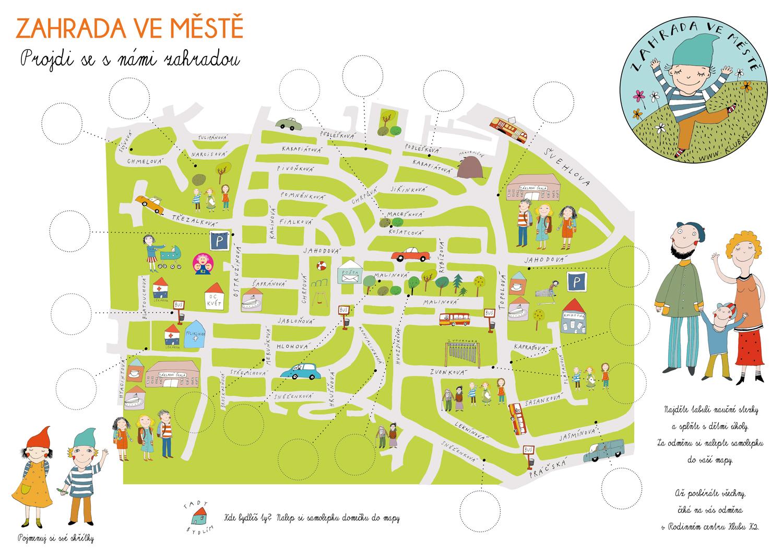 Mapa - Zahrada ve městě