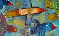 Letící ptáci