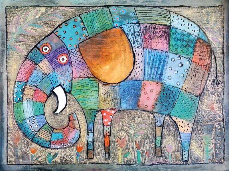 Dřevořez - Slon