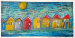 Vesnice u jezera