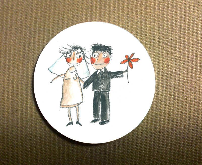 Svatební placky