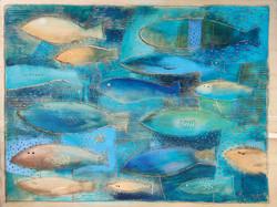 Dřevořez - Rybky