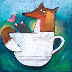 Šálek s liškou