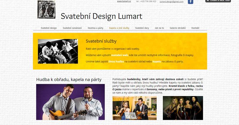Web - Svatebni Design Lumart