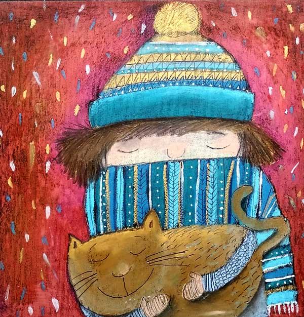 Zima s kočkou