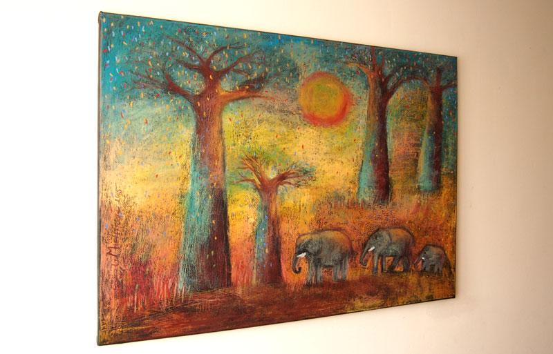 Sloni a baobaby