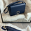Thumbnail: Leather Shoulder bag in midnight blue